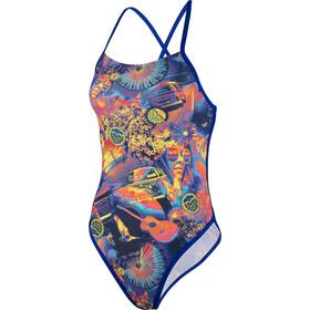 speedo Hi Five Flash Ribbonback - Bañador Mujer - Multicolor